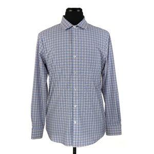 Mizzen + Main Long Sleeve Shirt Large Trim Fit